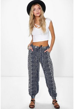 Helen Bohemian Print Relaxed Joggers