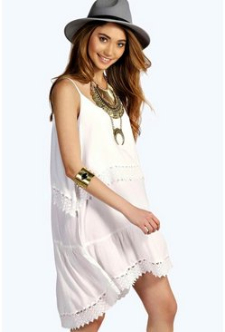 Lilly Lace Trim Swing Cami Dress