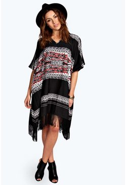Christina Printed Tassel Dress