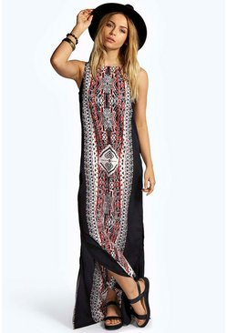 Lizzi Printed Column Maxi Dress