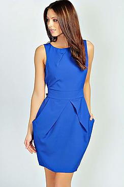 Persie Pleat Detail Dress