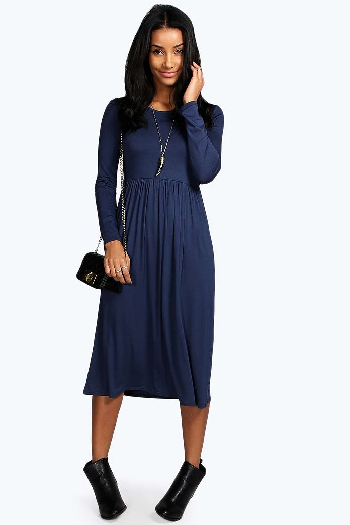 Mia Long Sleeve Midi Dress