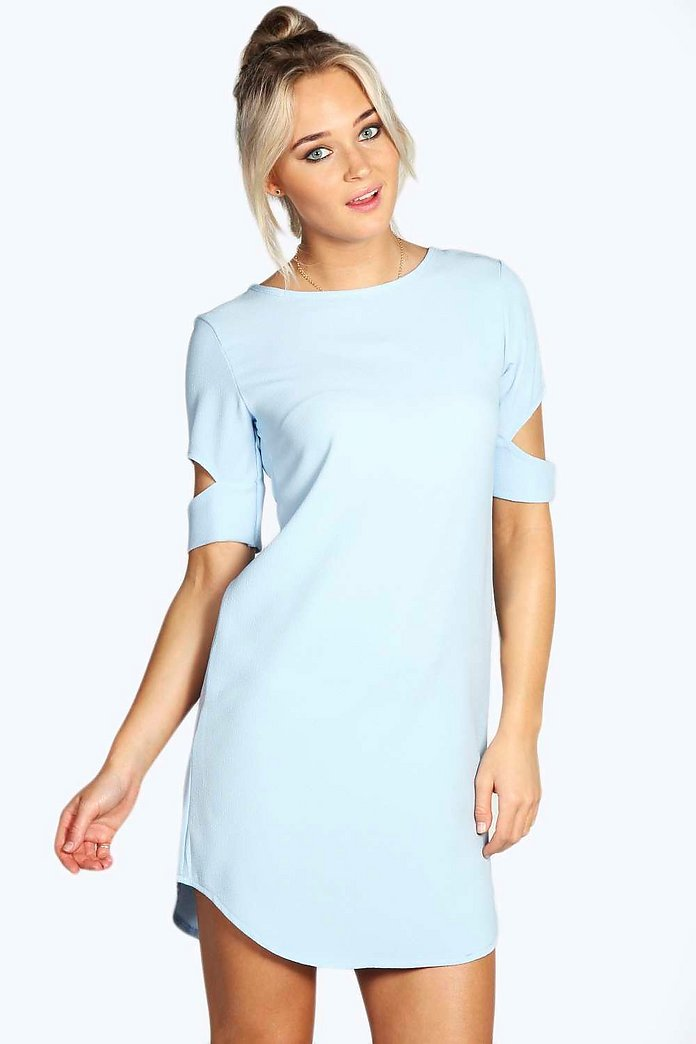 Cattia Cut Out Sleeve Shift Dress