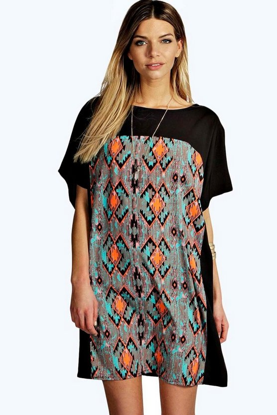 Gillian Woven Printed Shift Dress