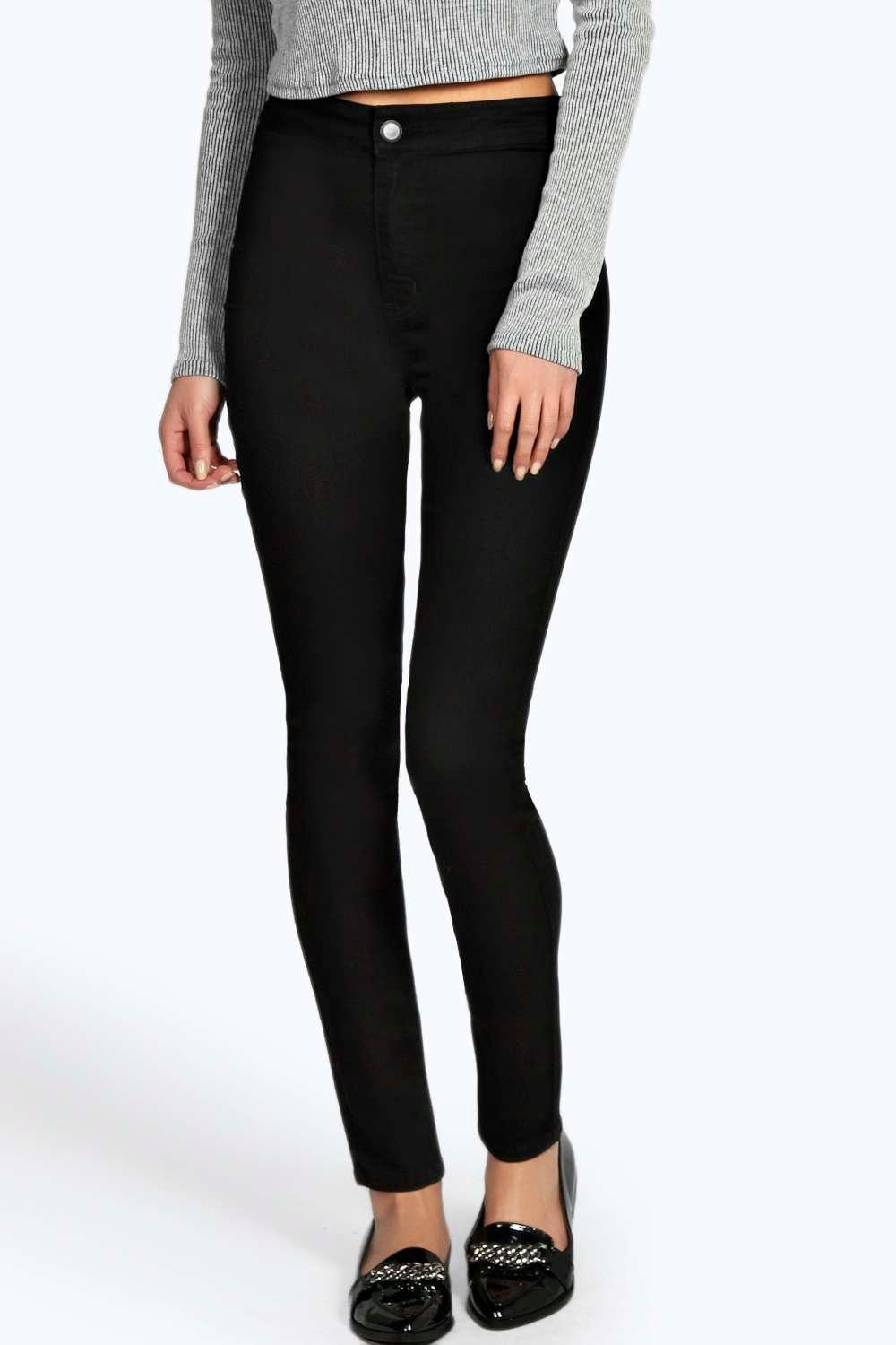 Black High Waisted Super Skinny Jeans - Xtellar Jeans
