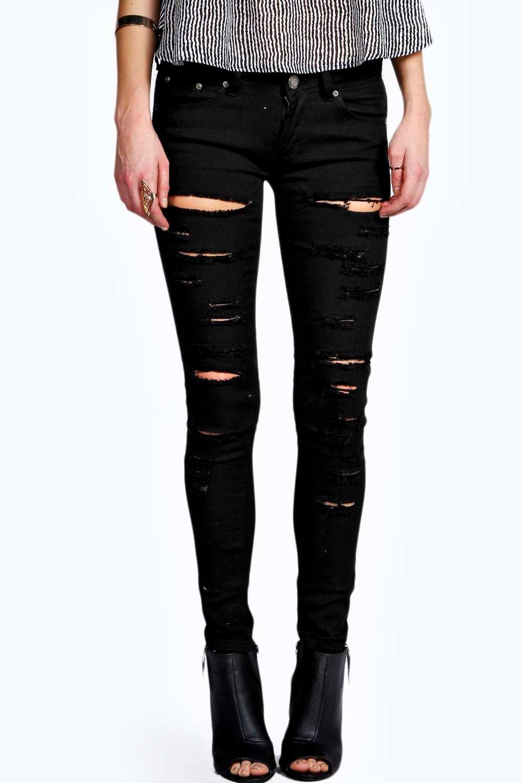 Shredded Black Skinny Jeans Ye Jean