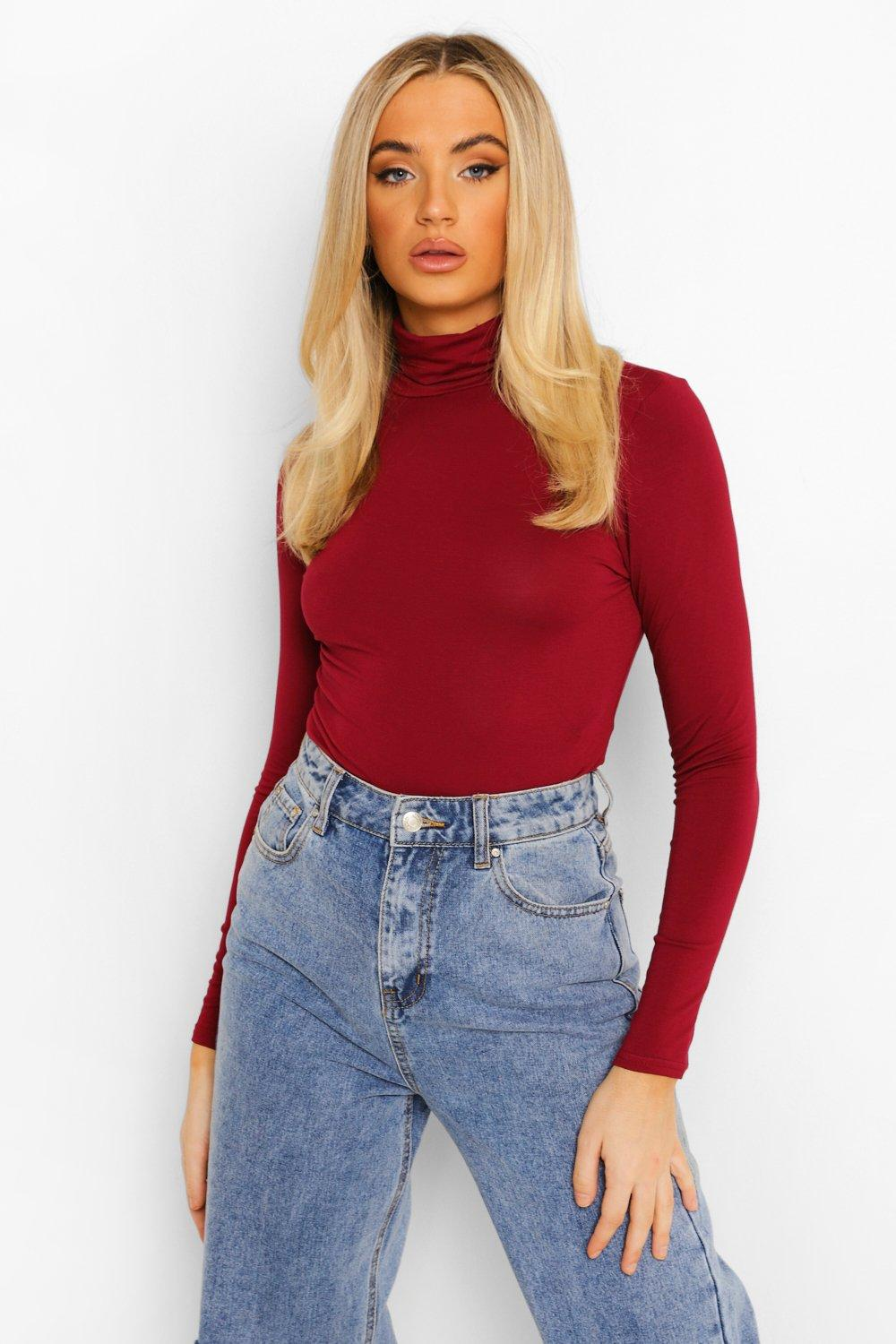 Turtleneck. Be classic and comfy in a turtleneck. Pair a sweater with jeans, skirts and more for a fresh look every day. Explore tops from Charter Club, Lauren by Ralph Lauren and many others. Enjoy a classic appearance in warm weather by wearing a women's sleeveless turtleneck.
