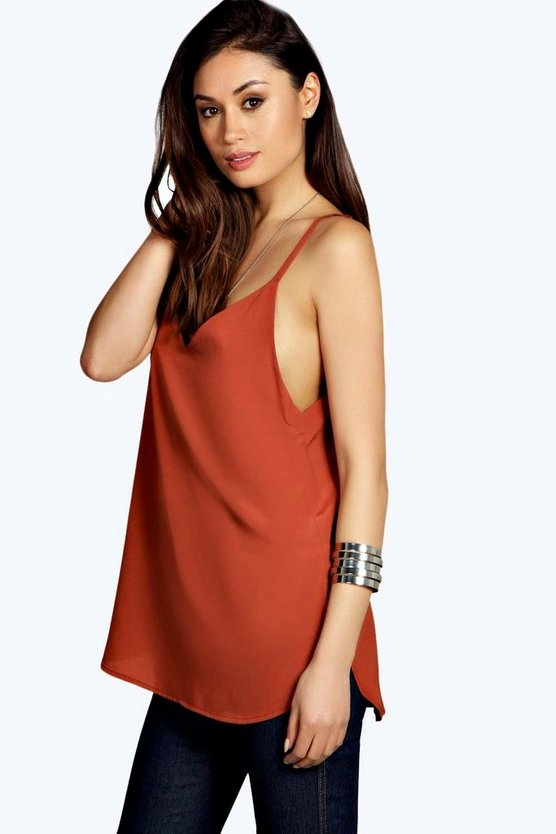 Siobhan Woven Curved Hem Cami