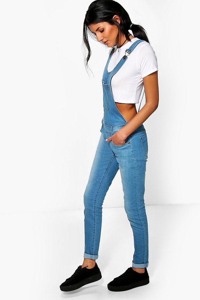 Willow Blue Super Skinny Denim Dungarees