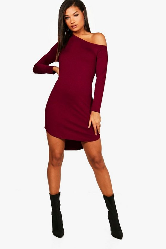 Naomi off The Shoulder Dip Hem Dress