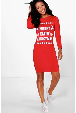 "Kimmy """"Elfin Christmas"""" Bodycon Dress"
