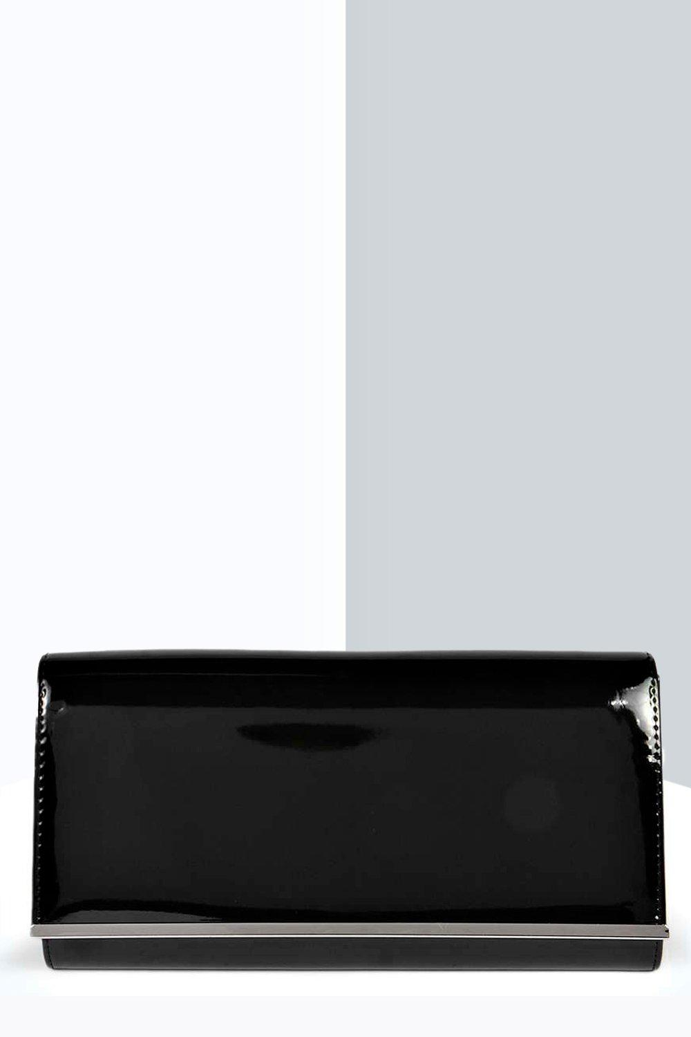 Patent Clutch Bag black
