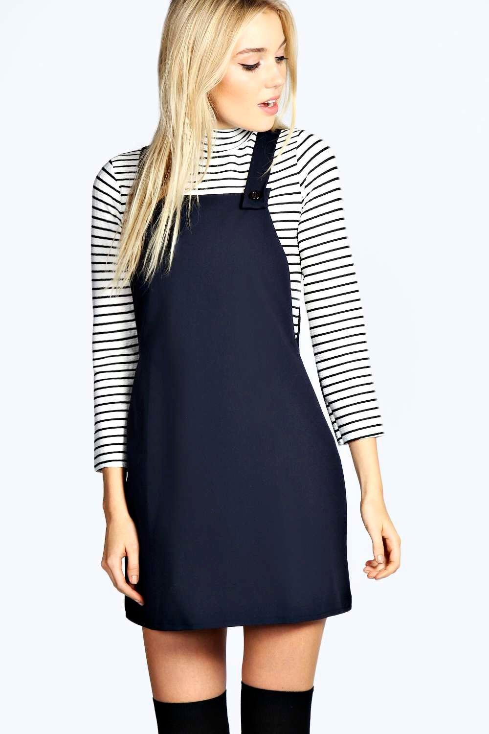 Leandra Woven Pinafore Dress