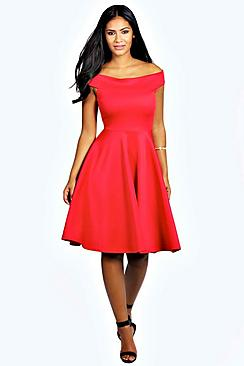 Kim Off The Shoulder Midi Dress