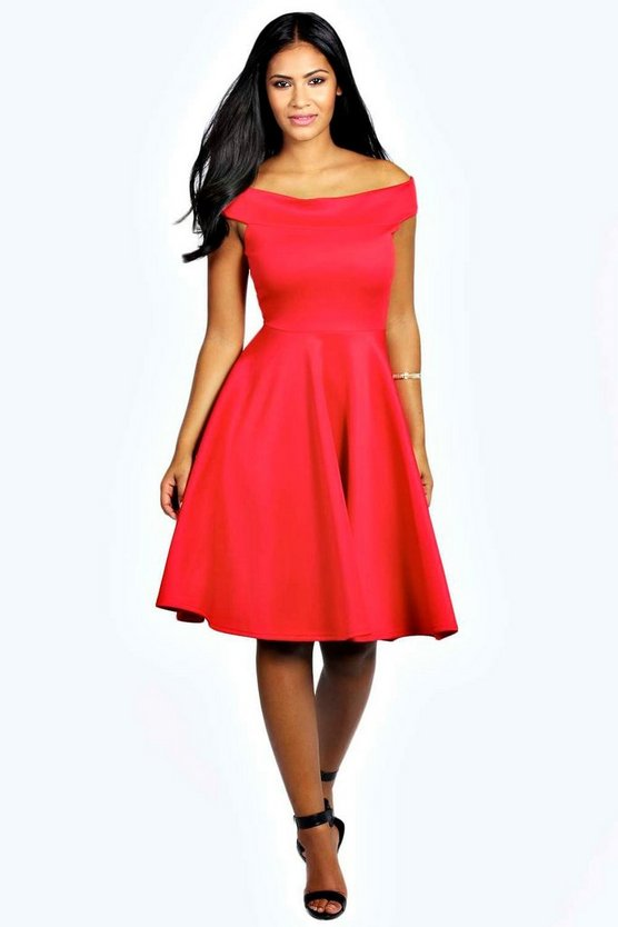 Molly Off The Shoulder Midi Dress