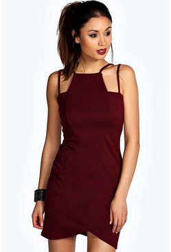 Esme Strappy Neckline Wrap Bodycon Dress