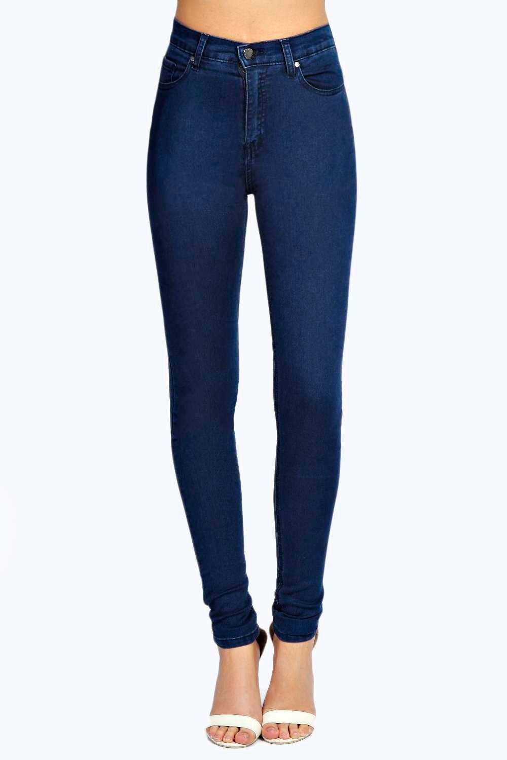 Abby High Rise True Blue Skinny Jeans