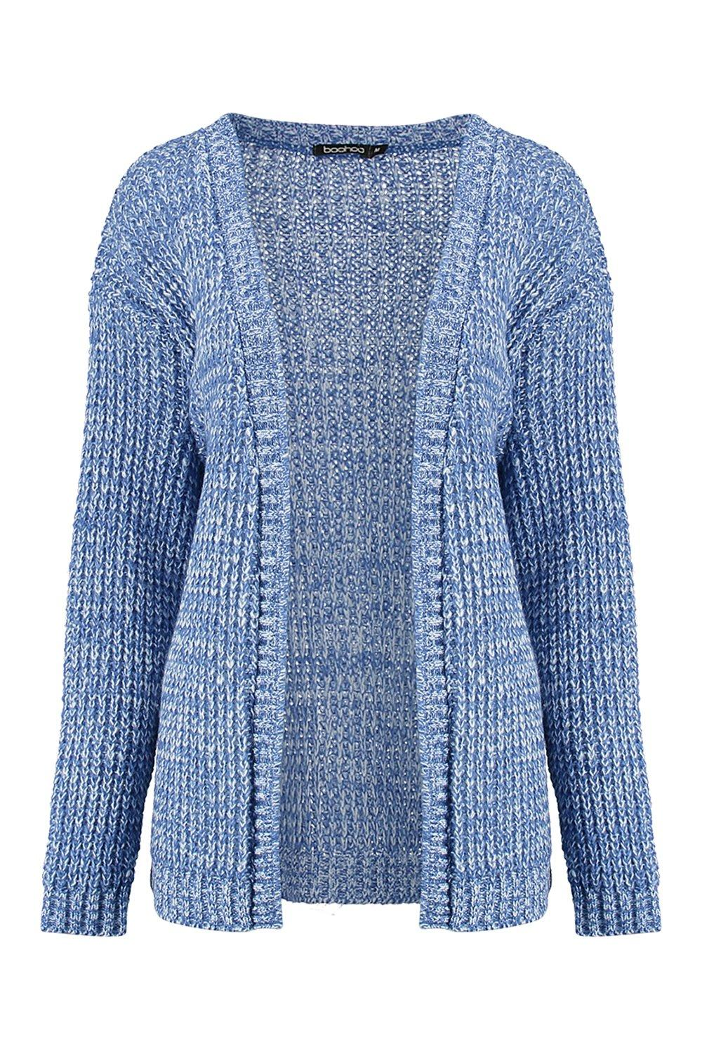 Knitting Pattern For Edge To Edge Cardigan : Boohoo Womens Isadora Edge To Edge Grungy Marl Knit Cardigan eBay