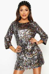 Sequin Dresses  Gold Black and Colourful Sequin Dress