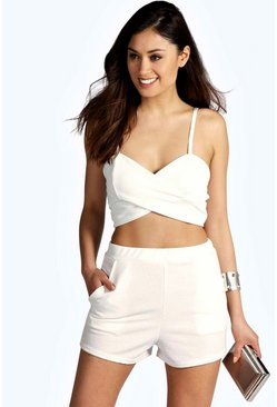 Rianna Cross Front Bralet & Short Co-Ord Set