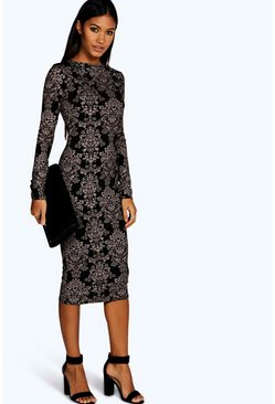 Fiona Printed Midi Dress