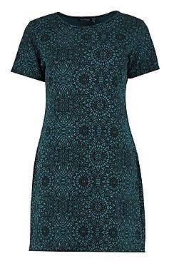 Ebony Printed Shift Dress