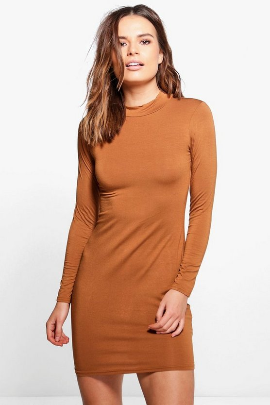 Lola Turtle Neck Midi Dress