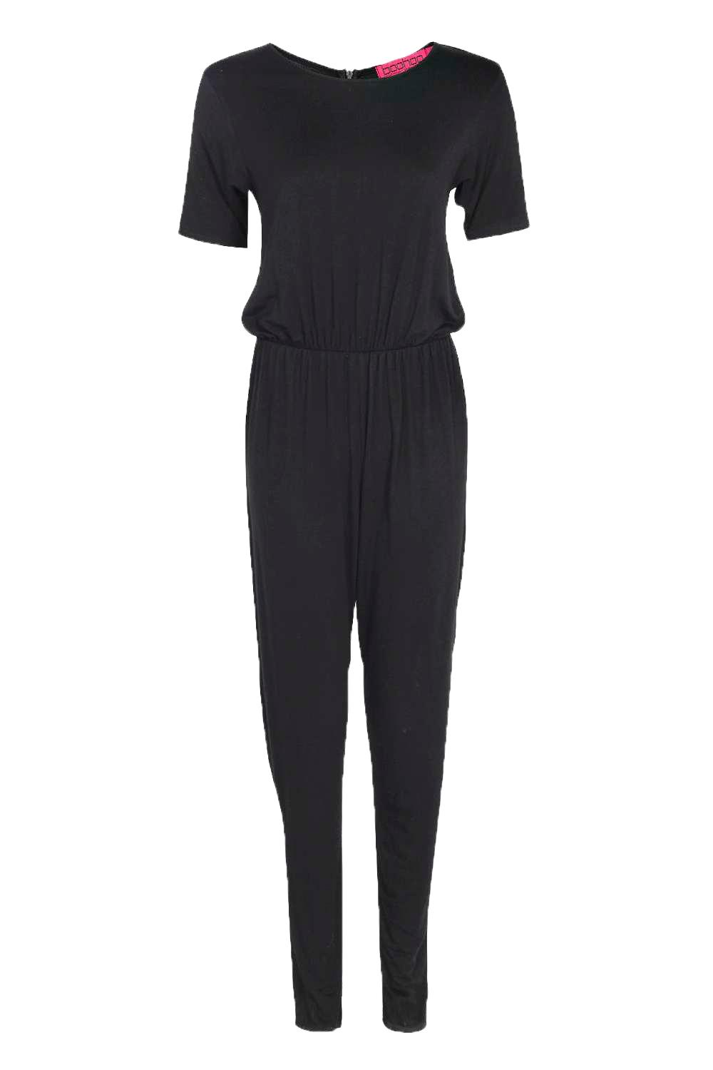 black t shirt style dress jumpsuits
