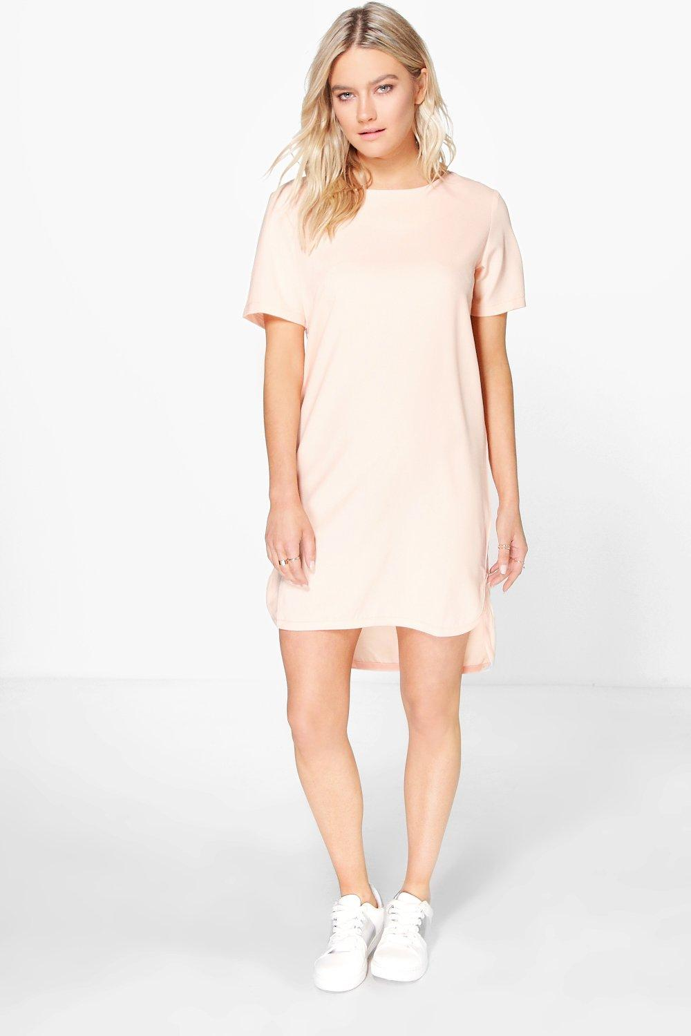 Ivy Step Hem Woven Shift Dress