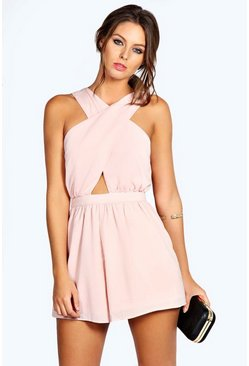 Lola Crossover Chiffon Playsuit