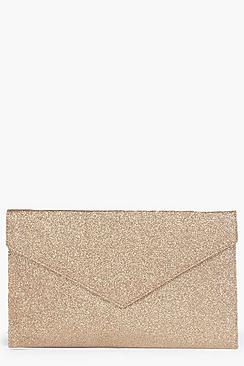 boohoo anne glitter envelope clutch