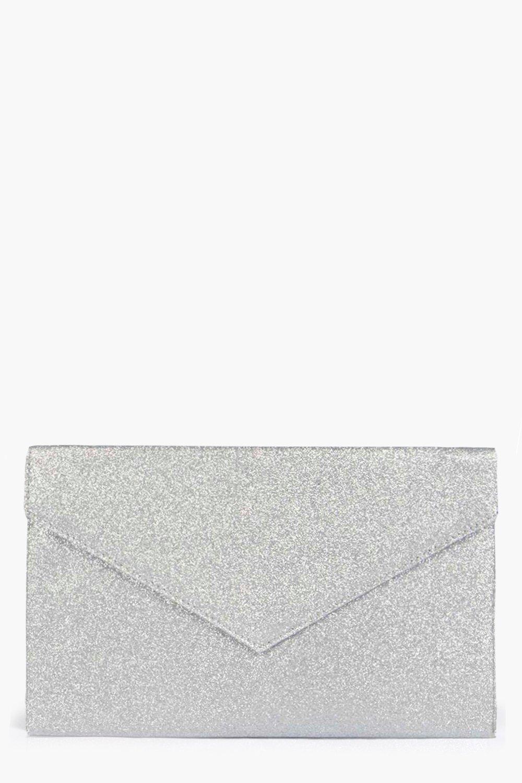 Glitter Envelope Clutch - silver - Make the platfo