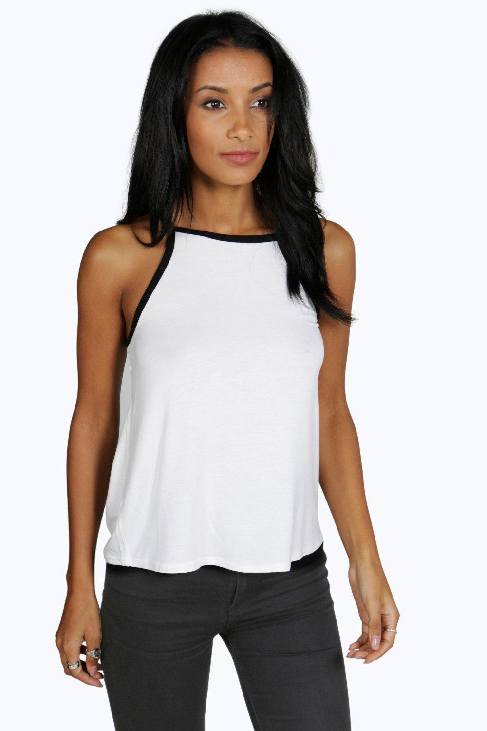 Alicia Contrast High Neck Swing Cami