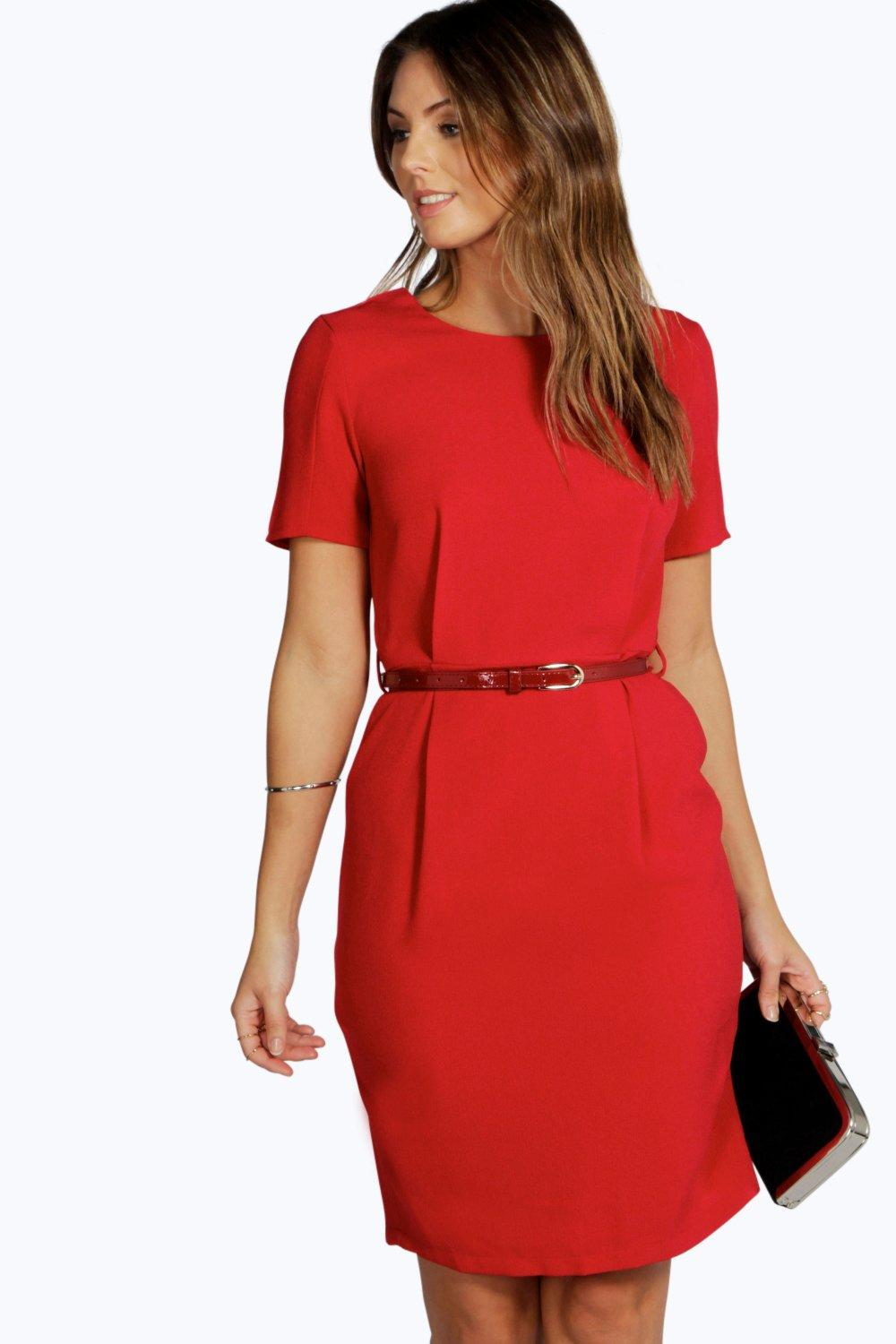 Olivia Textured Crepe Formal Dress