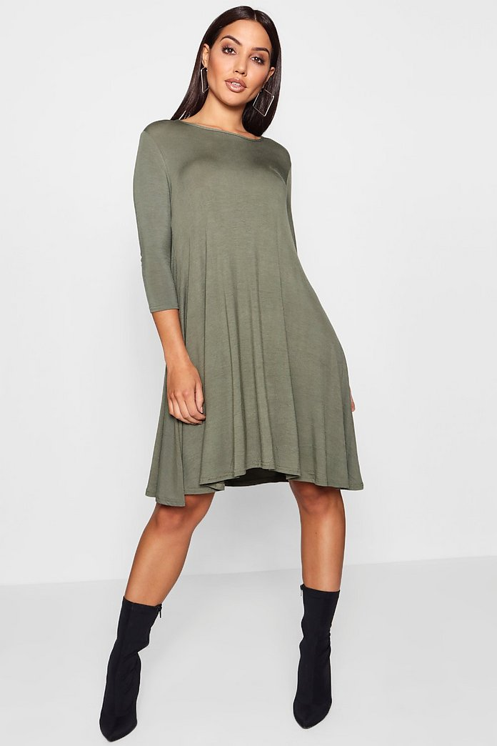 Allie 3/4 Sleeve Swing Dress