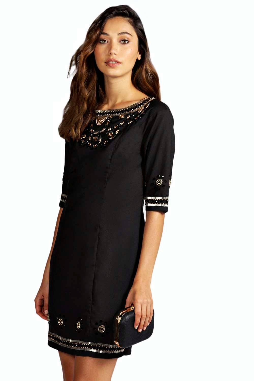 Boutique Ayah Heavily Embellished Shift Dresses