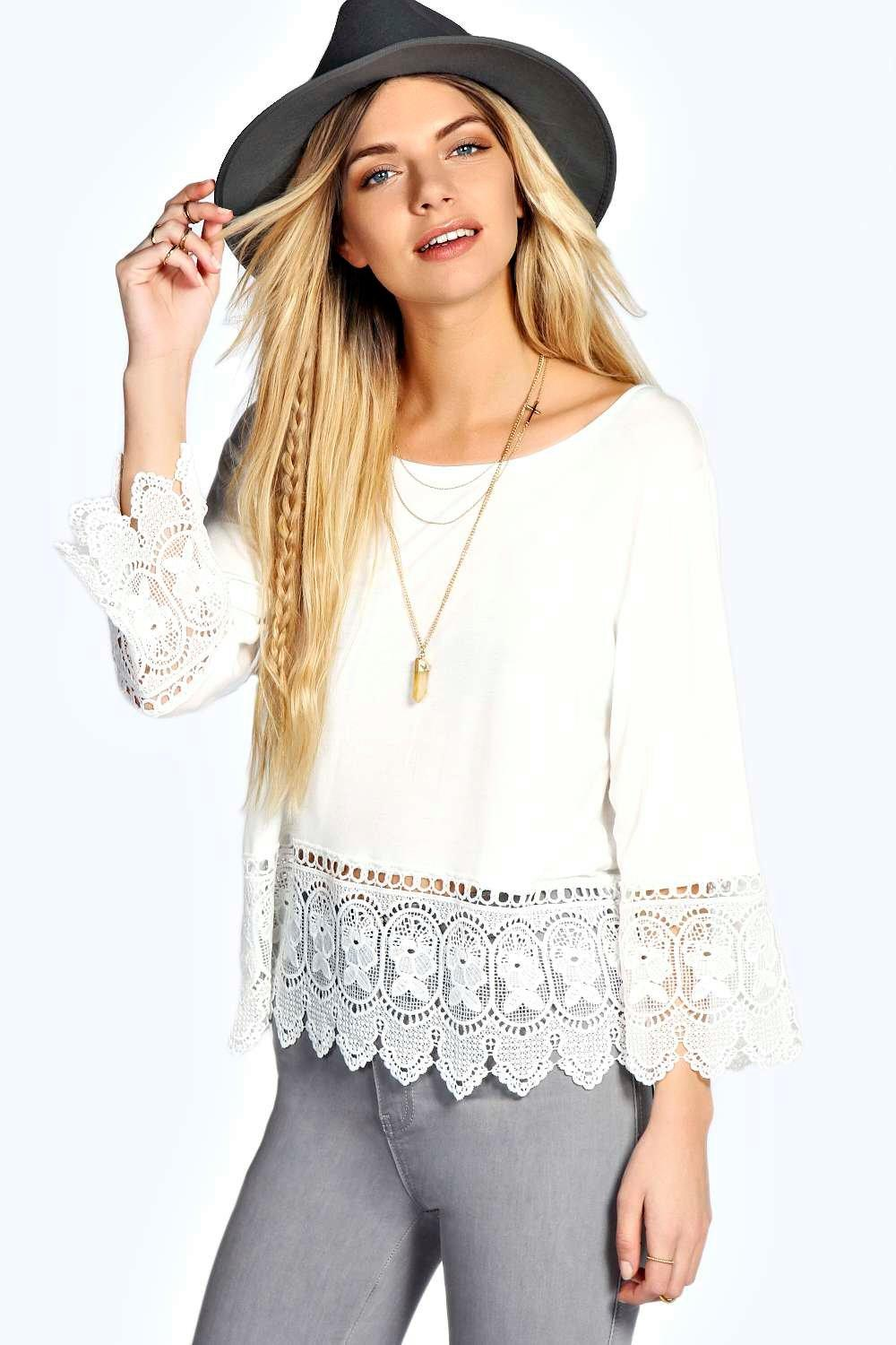 Alice Crochet Trim Swing Top