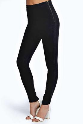 Abby High Rise Stretch Super Skinny Black Jeans