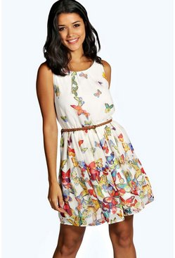 Bella Butterfly Skater Dress