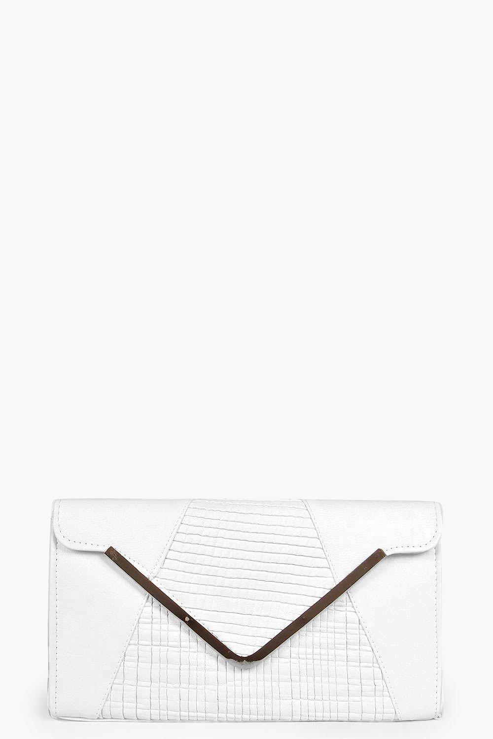 Holly Metal Trim Panelled Clutch