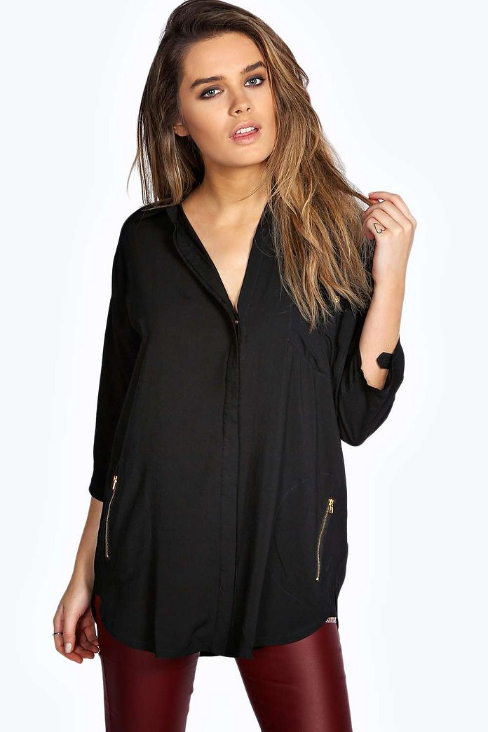 Anna Zip Detail Shirt