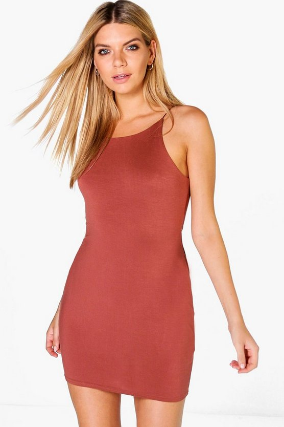 Sarah Spaghetti Strap Bodycon Dress