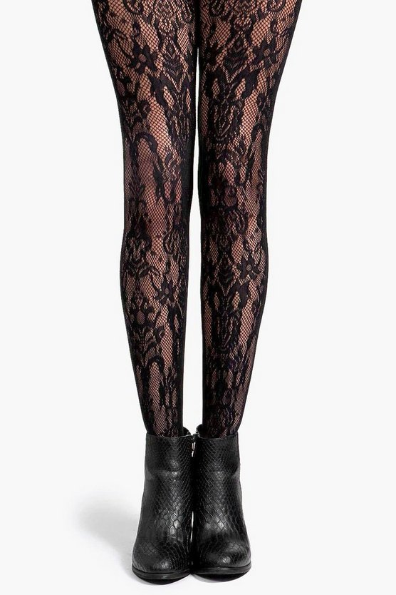 Deena Paisley Net Tights