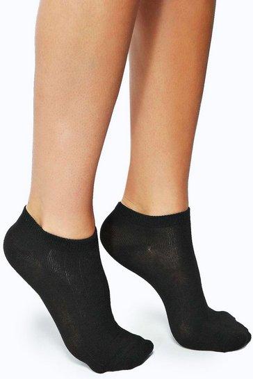 Black Trainer Socks 3 Pack