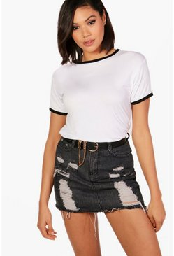 Alicia Contrast Neck & Cuff T-Shirt