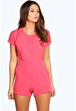 Maddox Capped Sleeve Woven Playsuit