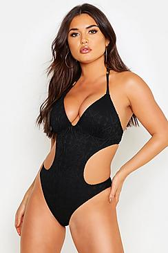 Florida Crochet Cut Out Swimsuit