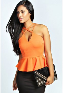 Liberty Strappy Peplum Top