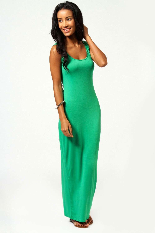 Boohoo Womens Ladies Petite Sandy Scoop Neck Sleeveless Maxi Dress Bwmd1 Ebay