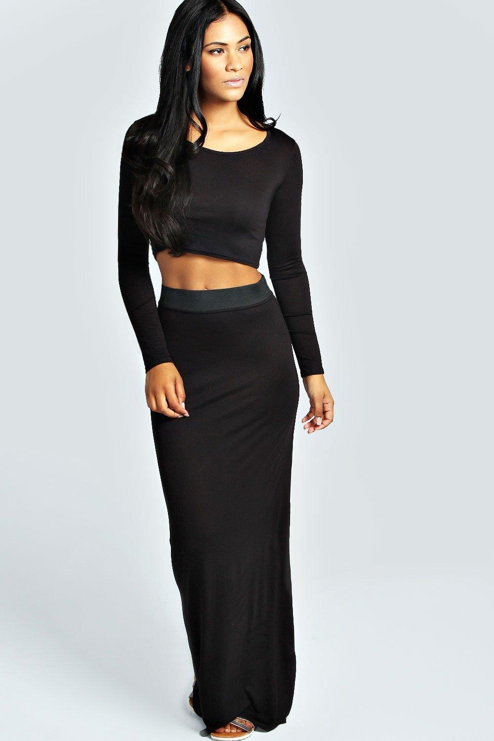 tilly sleeve crop top maxi skirt co ord set